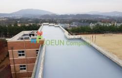 [폴리우레아 도막방수] 대전 자운중학교 옥상 방수공사